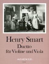 Henry Smart - Duetto op. 2 für Violine und Viola - Partition - di-arezzo.fr