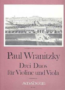 3 Duos für Violine und Viola - Paul Wranitzky - laflutedepan.com