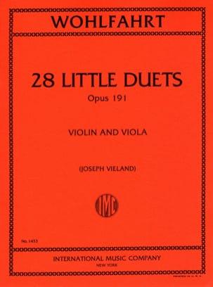 Robert Wohlfahrt - 28 Little duets op.191 - Sheet Music - di-arezzo.co.uk