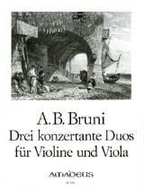 Antonio Bartolomeo Bruni - 3 Konzertante Duos op. 25 n°4-6 - Violine u. Viola - Partition - di-arezzo.fr