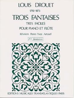 Louis Drouet - 3 Fantaisies n° 1 op. 38 - Partition - di-arezzo.fr