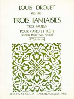 Louis Drouet - 3 Fantaisies n° 3 op. 39 - Partition - di-arezzo.fr
