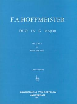 Duo in G major op. 13 n° 6 HOFFMEISTER Partition 0 - laflutedepan