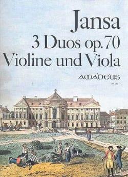 Leopold Jansa - 3 Duos op. 70 – Violine und Viola - Partition - di-arezzo.fr