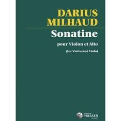 Darius Milhaud - Sonatine – Violon alto - Partition - di-arezzo.fr