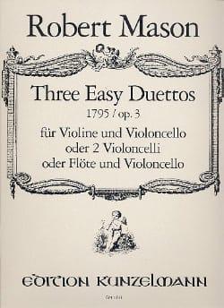 3 Easy duettos op. 3 - Robert Mason - Partition - laflutedepan.com