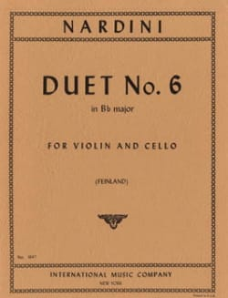 Pietro Nardini - Duet n° 6 in Bb major - Partition - di-arezzo.fr