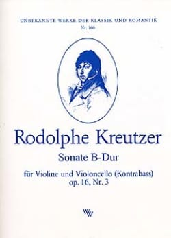 Rodolphe Kreutzer - Sonate B-Dur op. 16 n° 3 - Partition - di-arezzo.fr