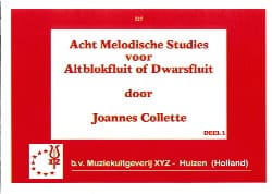 Joannes Collette - Acht Melodische Studies Volume 1 - Partition - di-arezzo.fr