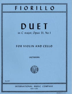 Duet in C major op. 31 n° 1 Frederigo Fiorillo Partition laflutedepan