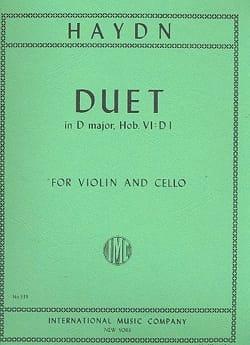 Joseph Haydn - Duet in D major - Partition - di-arezzo.fr