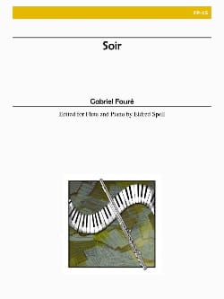 Gabriel Fauré - Soir – Flûte piano - Partition - di-arezzo.fr