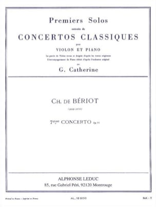 BÉRIOT - 1st Solo of the Concerto n ° 7 op. 73 - Sheet Music - di-arezzo.com