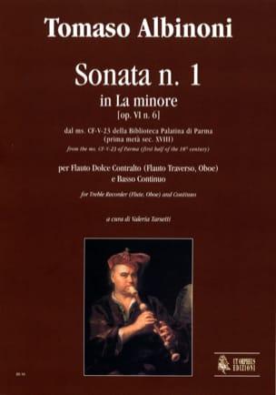 Sonata n° 1 in la minore op. 6 n° 6 ALBINONI Partition laflutedepan