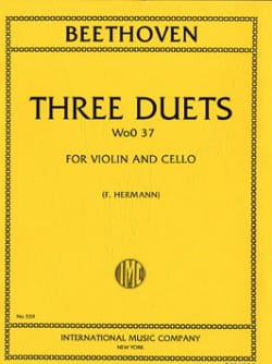 BEETHOVEN - 3 Duets WoO 37 - Violin Cello - Partition - di-arezzo.co.uk