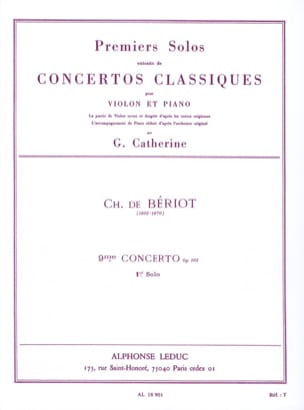 BÉRIOT - 1st Solo of the Concerto n ° 9 op. 103 - Partition - di-arezzo.co.uk