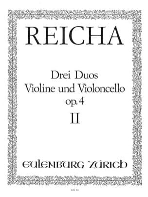 3 Duos op. 4 n° 2 - Violine und Violoncello Joseph Reicha laflutedepan