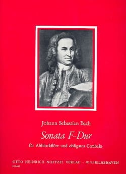 BACH - Sonata F-Dur - Altblockflöte - Sheet Music - di-arezzo.co.uk