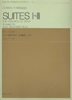Bach Johann Sebastian / Brüggen Frans - Suites n° 1-3 - alto recorder - Partition - di-arezzo.fr
