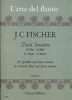 Johann Christian Fischer - 2 Sonaten - Flöte und Bc - Partition - di-arezzo.fr