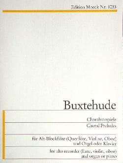 Dietrich Buxtehude - Choralvorspiel - Altblockflöte u. Orgel - Partition - di-arezzo.fr