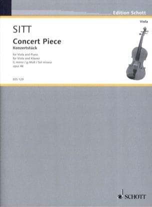 Hans Sitt - Konzertstück G moll op. 46 - Partition - di-arezzo.fr