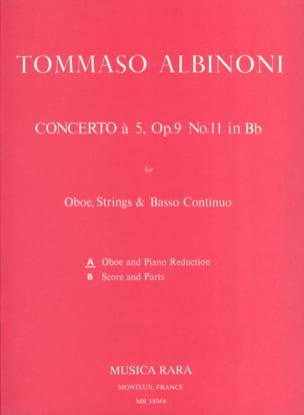 Tomaso Albinoni - Concerto has 5 op. 9 n ° 11 - Oboe piano - Sheet Music - di-arezzo.com