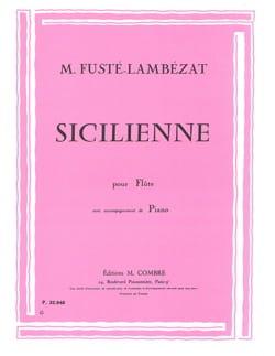 Sicilienne - Michel Fusté-Lambézat - Partition - laflutedepan.com