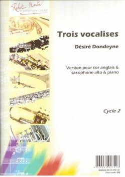 Désiré Dondeyne - Trois vocalises - Partition - di-arezzo.fr