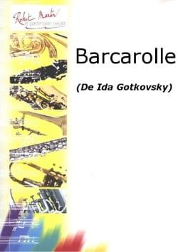 Barcarolle Ida Gotkovsky Partition Hautbois - laflutedepan