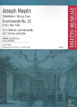 Joseph Haydn - Divertimento Nr. 20 D-Dur Hob. 5 : D3 –Partitur + Stimmen - Partition - di-arezzo.fr