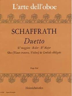 Duetto B-Dur -Oboe Cembalo obbl. Christoph Schaffrath laflutedepan