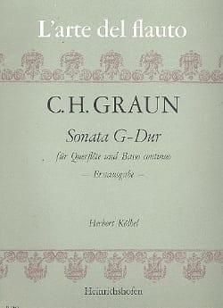 Sonata G-Dur – Flöte und Bc - Carl Heinrich Graun - laflutedepan.com