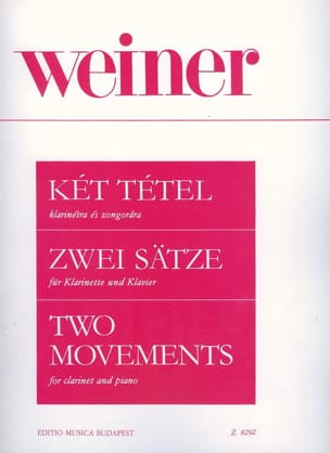Leo Weiner - Two Movements - Clarinet and Piano - Sheet Music - di-arezzo.co.uk