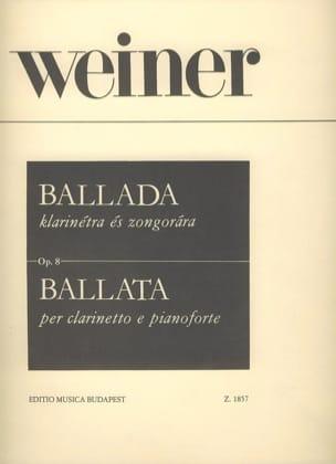 Leo Weiner - Ballada - Partition - di-arezzo.fr