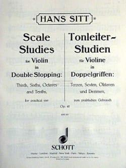Hans Sitt - Tonleiterstudien in Doppelgriffen op. 41 - Sheet Music - di-arezzo.com