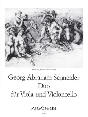 Georg Abraham Schneider - Duo für Viola und Violoncello in D-Dur op. 15 - Partition - di-arezzo.fr