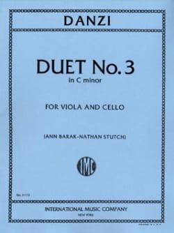 Franz Danzi - Duo n° 3 in C minor - Partition - di-arezzo.fr