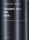 Gordon Jacob - Concerto No. 1 for Oboe - Sheet Music - di-arezzo.com