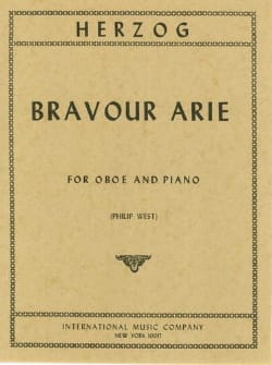 Bravour Arie - W. Herzog - Partition - Hautbois - laflutedepan.com