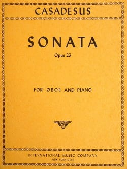 Sonata op. 23 –Oboe piano - Robert Casadesus - laflutedepan.com