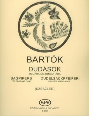 Bela Bartok - Dudelsackpfeifer – Oboe Klavier - Partition - di-arezzo.fr