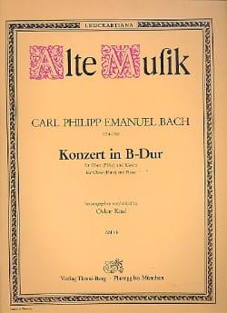 Carl Philipp Emanuel Bach - Konzert in B Dur – Oboe (Flöte) Klavier - Partition - di-arezzo.fr
