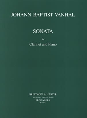 Johann Baptist Vanhal - Sonata in B flat major - Clarinet piano - Partition - di-arezzo.fr