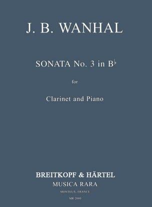 Johann Baptist Vanhal - Sonata No. 3 in Bb - Piano Clarinet - Partition - di-arezzo.co.uk
