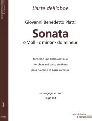 Giovanni Benedetto Platti - Sonata c-moll - Oboe und Bc - Sheet Music - di-arezzo.com
