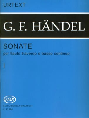 HAENDEL - Sonatas - Volume 1 - Flauto Crossbody - Sheet Music - di-arezzo.co.uk
