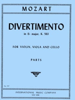 Wolfgang Amadeus Mozart - Divertimento in Eb major KV 563 – Parts - Partition - di-arezzo.fr