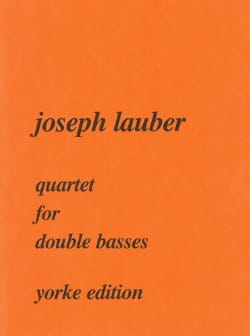Quartet for double basses Joseph Lauber Partition laflutedepan