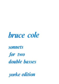 Bruce Cole - sonnets - Sheet Music - di-arezzo.co.uk